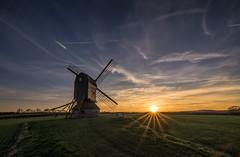 Stevington sunset (grbush) Tags: sun sunset goldenhour sunburst windmill mill stevingtonwindmill stevington countryside rural farming sky clouds sonyilce7 tokinaatx116prodxaf1116mmf28 england bedfordshire