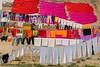 United Colors of  Varanasi (Tati@) Tags: colors laundry openair gange ghats