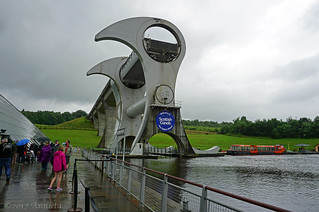 Falkirk Wheel on the wettest day in July (4 picts)