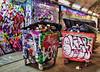 And In The Orange Corner (tcees) Tags: leakestreet london se1 waterloostn x100 fujifilm urban graffiti pad padgraffiti rubbishbins lowermarsh trash lights paint wheeliebin waste boxers boxing