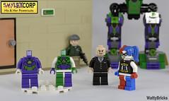 His & Her Powersuits (WattyBricks) Tags: lego dc comics supeheroes lex luthor smylex lexcorp harley quinn harleen quinzel joker gotham rogues gallery batman superman