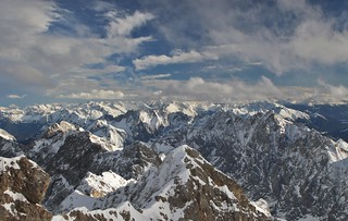 Alps from Zugspitze