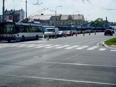 Ostrava queue of trolleybuses. (johnzebedee) Tags: trolleybus transport publictransport vehicle ostrava czechrepublic johnzebedee skoda skoda21tr