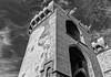 Valencia's  Medieval City Gate( Torres de Quart) (BW) (Fujifilm X70 28mm f2.8 Trans-X APS-C Compact) (markdbaynham) Tags: valencia valencian city spain urban metropolis es espana espanol fuji fujifilm x70 fujista fujinon prime fixedlens transx bw totrresdequart medieval gate citygate historic famous 28mm f28