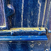 mailbox (MyArtistSoul) Tags: mailbox blue dirt streaks rivets steel urban grunge abstract square minimal 1012 iph7