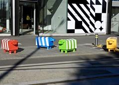 DSCN0940 (danimaniacs) Tags: christchurch newzealand street art stripes sheep fake animal colorful