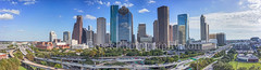 Houston Skyline Day Pano2 (tod grubbs) Tags: houston skyline houstonskyline day bluesky daytime aerial panorama pano cityscape clouds city downtown skyscrapers buildings highrise ih45 museumdistrict art culture music population drone urban us heritageplaza chasetower wellsfargo usa american america imagesofhouston imagesoftexas houstonimages stockphotoofhouston
