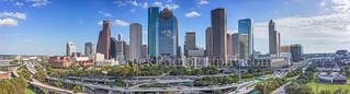 Houston Skyline Day Pano2