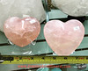 "JUST IN- Rose Quartz Crystal Hearts | Medium Size 4""- Fast Seller Hard to Find Size Only a few left!! Get this fast selling size before they are out again!! See our IG: @jewelryandmineral 