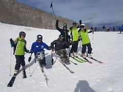Hermanos Szafronov con el equipo Paralímpico en Vail