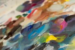 La Palette (Sous l'Oeil de Sylvie) Tags: peinture palette couleurs art artiste johannemaheux artistepeintre atelier sousloeildesylvie pentax ks2 50mm janvier 2017 abstraction abstrait abstract