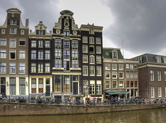 Where else but Amsterdam! (Digidoc2) Tags: townscape buildings citscape city oldtown skyline canal old typical architecture urban sky clouds water summer amsterdam