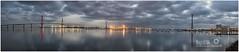 Bahía de Cádiz (miguel68) Tags: puentedelapepa navantia torresdelacompañíasevillanadeelectricidad pilones de cádiz cadiz andalucia panorámica puentedelaconstituciónde1812 torresdecádiz remoscalla astilleros puntales matagorda amanecer nikon