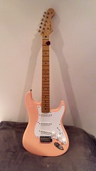Fender Strat Replica 11.2.2018 (2) (bebopalieuday) Tags: guitar electric 6string fender stratocaster replica maplefingerboard shellpink warmoth guitarlove