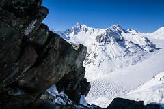Rock the Glacier (cs_one) Tags: switzerland goms valais winter europe glacier aletsch aletschgletscher ice snow rocks alpine alpshigh peaks