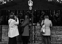 market (yeezusr96) Tags: uk london street blackandwhite christmas people market