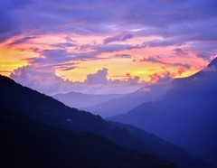 Vivid sunset of northeast India, Sikkim. (Vibhutius) Tags: sikkim scenery sunset vivid valley beauty beautifulnature colours mountains himalayas northeastindia incredibleindia india beautifulearth travel trip holiday destination nikon d5200
