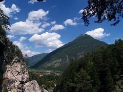 P7082155 (Rarainah) Tags: nature mountain trees clouds village town rocks green forest