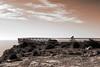 De vuelta (Josevi Parra) Tags: paisaje landscape montaña mountain cielo sky virado sepia monocromo monochrome monocromatico santapola alicante gimp canondpp