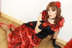 Hola mis amigas! (Paula Chester) Tags: tg ts tv trannie trans transvestite tgurl tgirl cd crossdresser crossdressing ladyboy flamenco hola chica