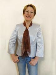 "Hand dyed silk scarf ""Coffee aroma"" (arireven) Tags: silk scarf handpainted handdyed necktie ascot whisperofsilk"
