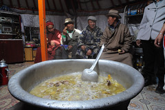 45145-001: Establishment of Climate-Resilient Rural Livelihoods in Mongolia (Asian Development Bank) Tags: people citizens locals guests food nutrition traditionaldishes dishes viands delicacies feast gathering meeting discussions socialgathering socialevent party celebration homes indoors tents ger yurt social socialdevelopment mongolia mng