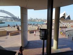 Sydney. Circular Quay. View from Matt Moran's Aria Restaurant. (denisbin) Tags: sydney circularquay voyageroftheseas liner sydneyharbourbridge ariarestaurant sydneyoperahouse operahouse sydneyharbour cruiseship