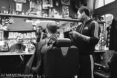 King Koby chop-shop Leeds. (The friendly photographer.) Tags: art artistic britain blackwhite blackandwhite bw biancoenero beauty brilliant excellentphoto barbers cornexchange candid city citycentre d7100 dark england enblancoynegro ennoiretblanc flickrcom flickr google googleimages gb greatbritain greatphotographers greatphoto gentleman image inbiancoenero interesting leeds ls1 leedscitycentre mamfphotography mamf monochrome men kingkoby nikon nikond7100 noiretblanc noir northernengland negro north photography photo pretoebranco photograph photographer people reflection schwarzundweis schwarz town uk unitedkingdom upnorth urban westyorkshire yorkshire zwartenwit zwartwit zwart tattoo tattoos