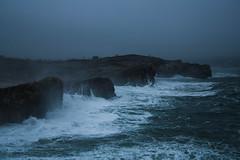 (Rocío AR) Tags: la virgen del mar santander cantabria spain north cantabrico cliffs seaside coast fog foggy gloomy weather sea atlantic ocean moody