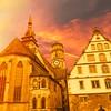 Der phantastische Moment (bornschein) Tags: schillerplatz street kirche church architektur sky city germany stuttgart