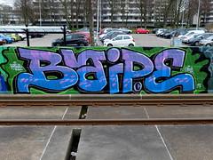 Graffiti (oerendhard1) Tags: graffiti vandalism illegal streetart urban art rotterdam traintrack metro baipe ob obs oerendhard