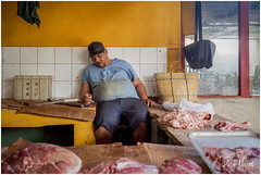 At The Butcher (RudyMareelPhotography) Tags: cuba havana streetlife butcher butchershop street streetphotography flickrclickx flickr ngc