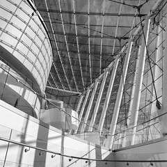 Kauffman Center for the Performing Arts (Dean OM) Tags: kansas city moshe safdie architecture performing arts center black white bw hasselblad 40mm acros fuji