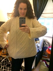 Women takes selfie in her cozy wool sweater (Mytwist) Tags: apple clio phineas luck irish wool knit sweater love passion donegal fisherman style fashion retro casual chunky aranstyle knitted cabled design pullover knitting modern heavy pattern