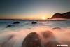 Ihama rock beach sunset (koshichiba) Tags: izu ihama minamiizu japan tide seascape landscape wave wind nature typhoon shore beach orange magic light scenic blue dusk clouds winter canon exposure lee filter nd half