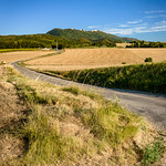 Typical French landscape in summer with grain fields thumbnail