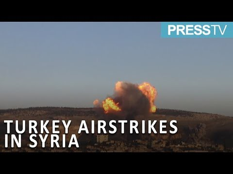 Press TV News : Syria: Smoke clouds Afrin as Turkey launches airstrikes