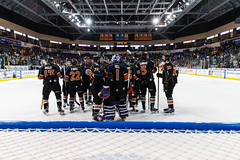 "Kansas City Mavericks vs. Toledo Walleye, January 21, 2018, Silverstein Eye Centers Arena, Independence, Missouri.  Photo: © John Howe / Howe Creative Photography, all rights reserved 2018. • <a style=""font-size:0.8em;"" href=""http://www.flickr.com/photos/134016632@N02/39839874121/"" target=""_blank"">View on Flickr</a>"