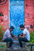 The catch up! (Chaschaser) Tags: asia travel people india pondicherry