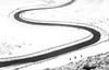 S (Julian Barker) Tags: mam tor s bend road three walkers bold contrast shape sinuous meandering bendy bends snow fence derbyshire edale peak district national park rural transport route link inclement weather winter walking england uk europe julian barker canon dslr 600