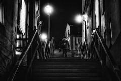 Nightstairs (andersåkerblom) Tags: night dark stairs streetphotography streetphoto street monochrome blackandwhite bnw bw