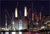 Battersea Power Station Lights Up (Bill-Green) Tags: batterseapowerstation construction cranes thethames battersea billgreen
