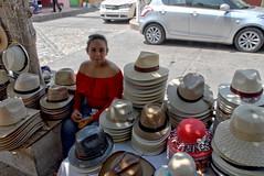 Smile among Panama hats (Chemose) Tags: mexico mexique chiapadecorzo chiapas panama hat chapeau hdr canon eos 7d mars march street rue