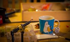 IMG_1049 (A.Crossroads) Tags: flyfishing handcraft fly moomin coffee cup klinkhammer
