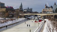 Skating in Ottawa (claudeallaert) Tags: sonya7ii rideaucanal ottawa ontario canada winter skating parliamentbuildings nationalartcenter icerink skatingrinkilce7m2