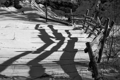 2018 - photo 031 of 365 - fence and shadows near St. Croix Nova Scotia (old_hippy1948) Tags: fence shadows snow