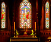 Old St Pauls Church Alter (Grumps52) Tags: glass window church alter nikon d7100 newzealandwellington cruise light candle