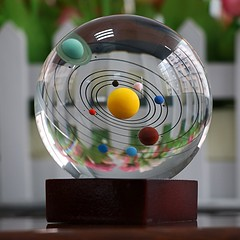 Solar System Clear Crystal Ball (mywowstuff) Tags: gifts gadgets cool family friends funny shopping men women kids home