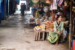 Sales woman at the market
