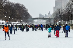 Winter fun in Ottawa! (beyondhue) Tags: skater rideau canal skateway ncc ottawa beyondhue ontario canada chateau fairmont laurier bridge skating recreation winterlude 2018 ice rink outdoors activity people crowd